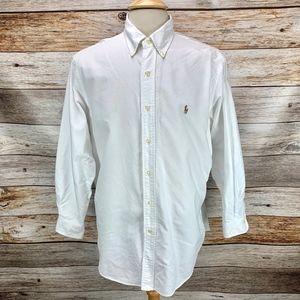 Ralph Lauren CLASSIC FIT White Oxford Dress Shirt
